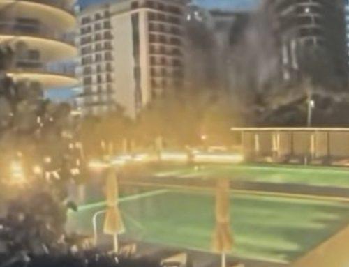 (영상)플로리다 12층 아파트 붕괴 장면